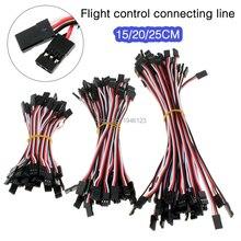 10 pièces/lot câble de commande de vol câble Servo mâle à mâle 22AWG 30 noyau 60 Core 10cm 15cm 20cm Anti-interférence pour quadricoptère