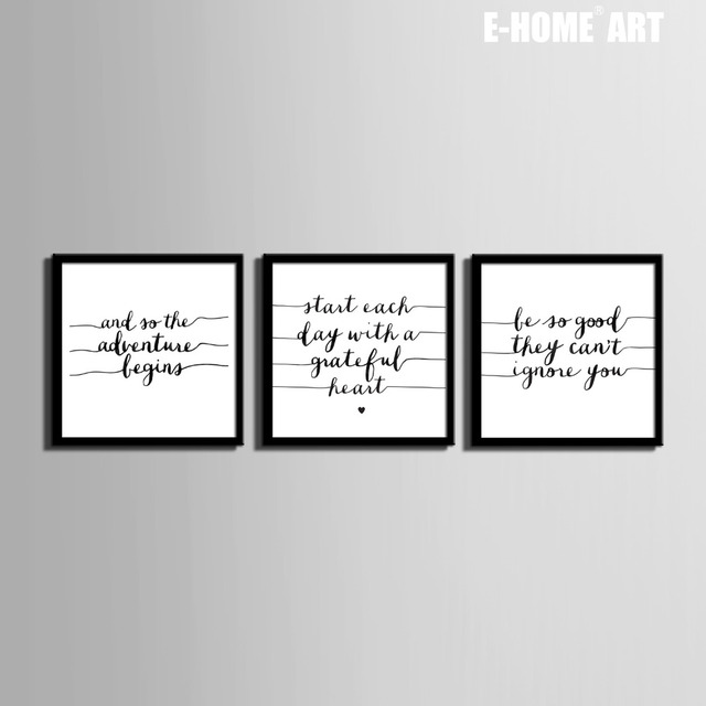 Free Shipping Art Print Framed Canvas Painting Art Lines And Letters ...