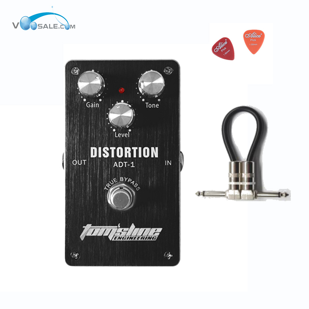 Aroma ADT-1 Distortion Premium Analogue Guitar Effect Pedal with Aluminum Alloy Housing andTrue Bypass Guitar Parts+Free Cable aroma tom sline abr 3 mini booster electric guitar effect pedal with aluminum alloy housing true bypass durable guitar parts