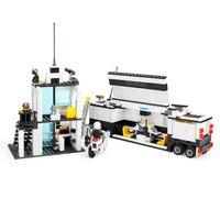 KAZI Police Station Model Blocks Toys 511pcs Bricks Truck Education Gifts Compatible Building Blocks Set For