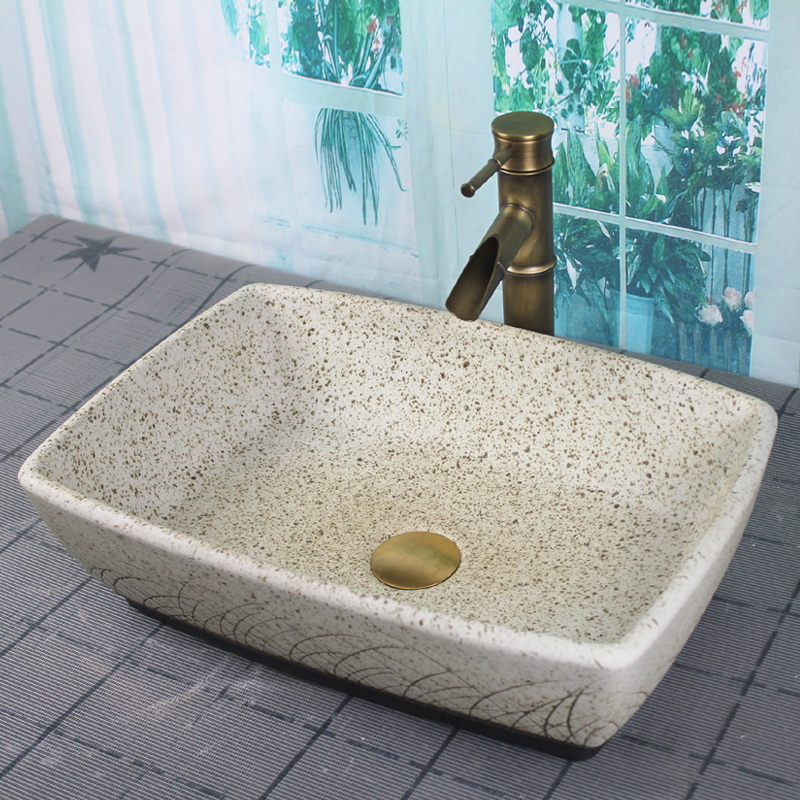 Salle de bains porcelaine céramique navire évier bassin carré lavabo lavabo artificiel bassin