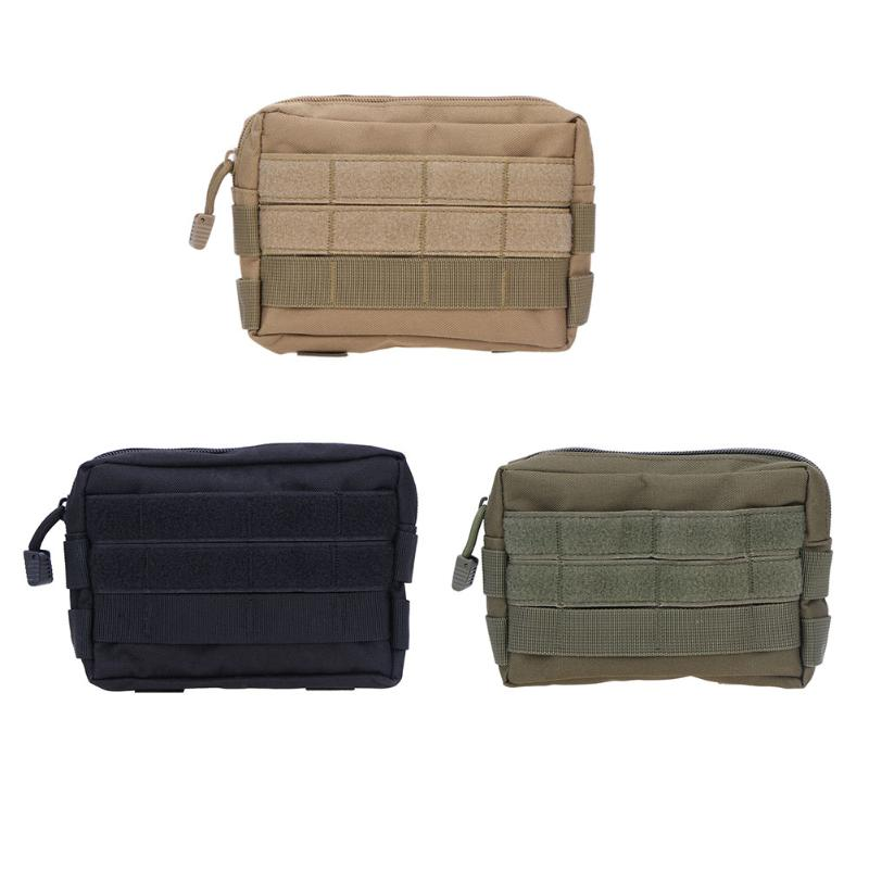 Canvas Tactical Bag Military Backpack Outdoor Camping Hiking Phone Keys Holder Pouch Sports Waist Bag Bolsa Outdoor Bags Rucksa