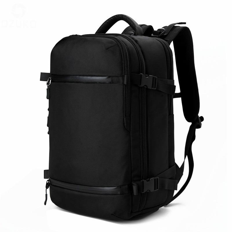 2019 sacs à dos pour adolescents ordinateurs portables d'entreprise sac à dos 14 15.6 pouces mode hommes voyage sac à dos multifonction en Nylon école noir