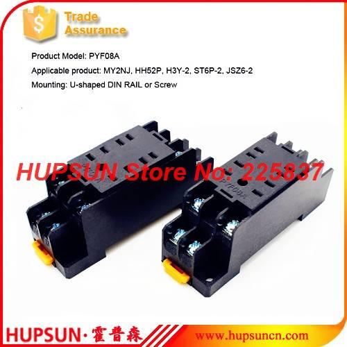 US $3.44 |PYF08A relay socket(10Pcs) HH52P MY2 relay socket rele base on