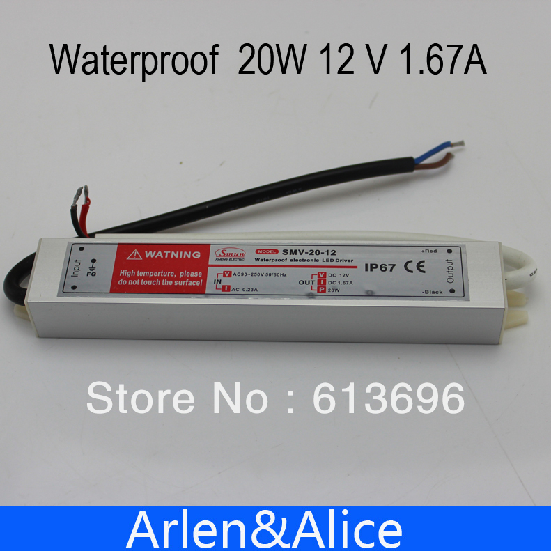 20W 12V 2A Waterproof outdoor Single Output Switching power supply for LED Strip light ac to dc ac 85v 265v to 20 38v 600ma power supply driver adapter for led light lamp