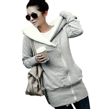 ZANZEA 2019 Womens Hoodies Coat Warm Fleece Zipper Jacket Hooded Outwear Plus Size Casacos Mujer Parka