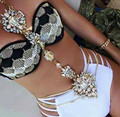 3 Color Luxury Gem Stone Flower Long Body Chain Maxi Waist Necklaces Gold Summer Bikini Body Jewelry Accessories Collier