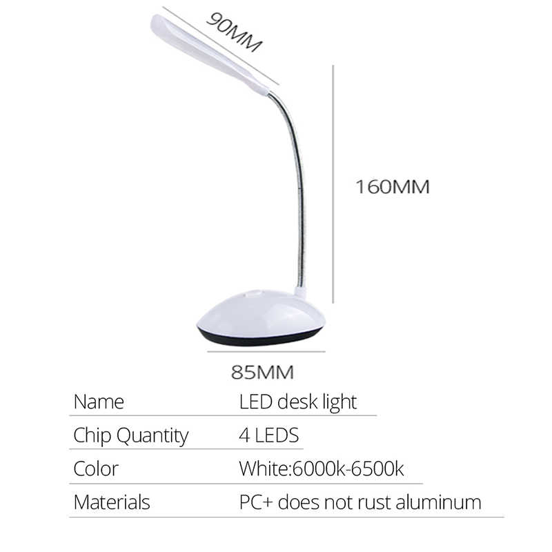 Batterie Powered Leuchte LED Nacht Licht 4LEDs Augenschutz Lesen Kinder Leuchte Nachttisch Lampen für Schlafzimmer