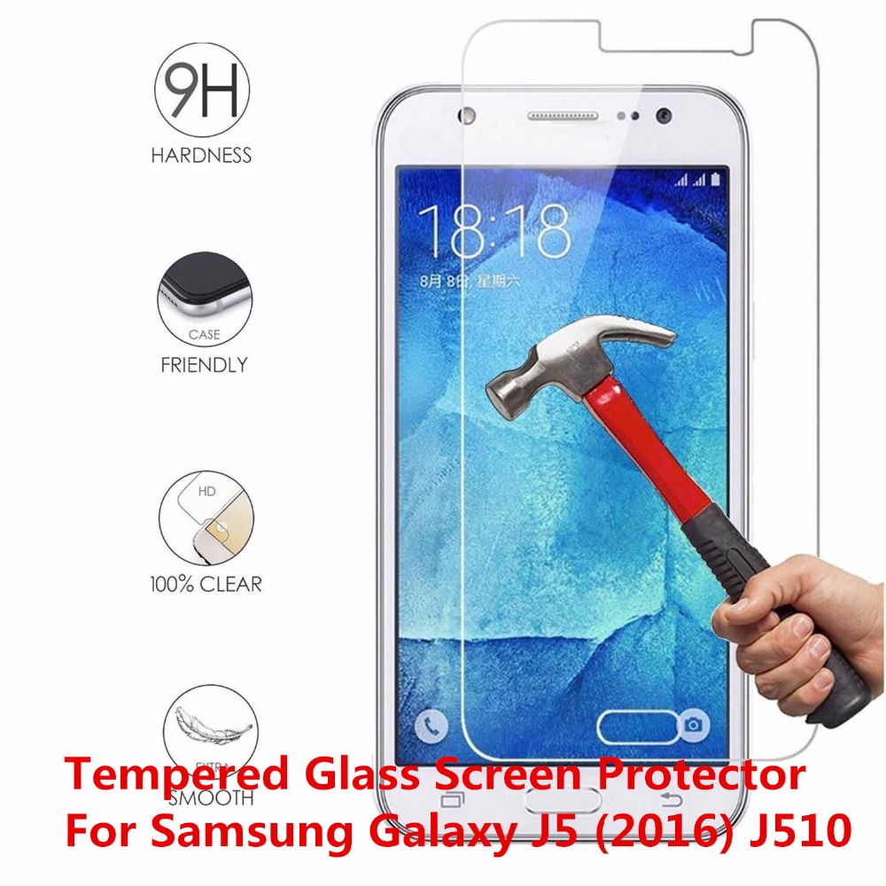 0.3mm Anti-Explosion Tempered Glass Front Guard Film Screen Protector Protective Shield Cover For Samsung Galaxy J5 (2016) J510