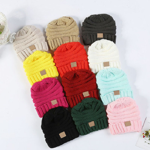 1fe0337ff45 Winter Hats For Kids Winter Knitted Trendy Hats Babies Knitting Beanie Kids  Fashion Warm Caps Childrens Casual Accessories
