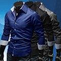 Предметы! мужская Стильный Slim Fit С Длинным Рукавом Платье Рубашка Повседневная Ти Топы Рубашки Бизнеса