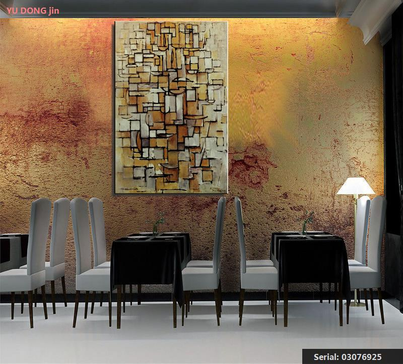 Us 8 73 46 Off Piet Cornelies Mondrian Still Life Abstract Oil Painting Drawing Art Spray Unframed Canvas Wine Wine Airbrush Kitchen03076925 In