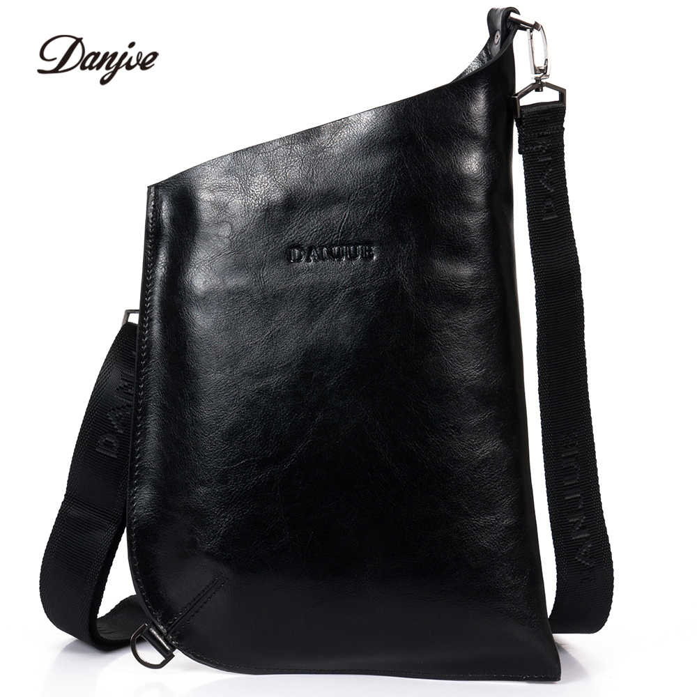 DANJUE Genuine Leather Men Messenger Bag Italian Style Crossbody Bags New Brand Leisure Man Bag Hobos Style Daily Bag Men Cluth