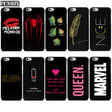 Marvel Melanin black girl Queen NICE Funny Couple Phone Case For iPhone 7 5S SE 6S 7 8 Plus X XR XS MAX Soft TPU Silicone cover(China)