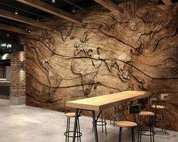 Beibehang пользовательские обои старинные деревянные зерна карта мира задний план стены гостиной спальни ТВ фон росписи 3d обои