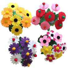 2PCS Artificial Flower Pot DIY Non woven Artificial Flower Pot Hand Toys Early Educational Toys Kids
