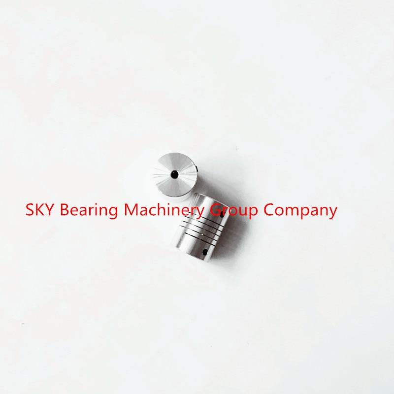 5pcs Aluminium Plum Flexible Shaft Coupling 6.35mm to 12mm Motor Connector Flexible Coupler 6.35mmx12mm D25mm L30mm oldham $ coupling flexible coupling motor coupling d25l30