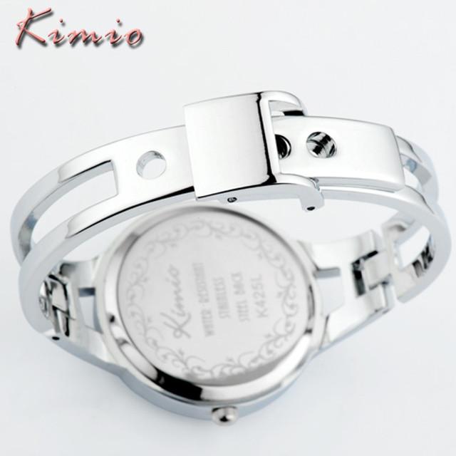 KIMIO Brand Women Dress Watches Montre Femme Silver Bracelet Clock Fashion Casual Stainless Steel Quartz Watch Relogio Feminino