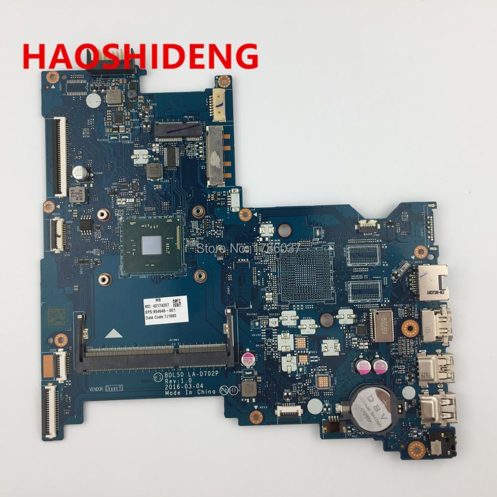 цена 854949-601 BDL50 LA-D702P for HP NOTEBOOK 15-AY series Motherboard.All functions fully Tested! онлайн в 2017 году
