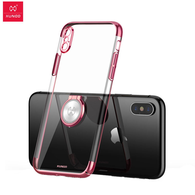 on sale c9c1b efb86 US $10.7 25% OFF|Aliexpress.com : Buy For iPhone X case Xundd Luxury  Transparent Hard PC Ring holder back Cover For iPhone X case capa work for  ...
