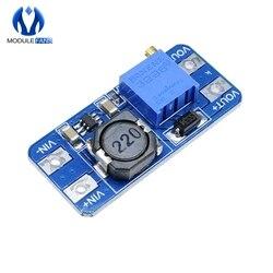 10 Uds MT3608 DC-DC paso poder aplicar Diy Kit de módulo de placa PCB aumento de potencia módulo MAX salida 28V 2A para Arduino