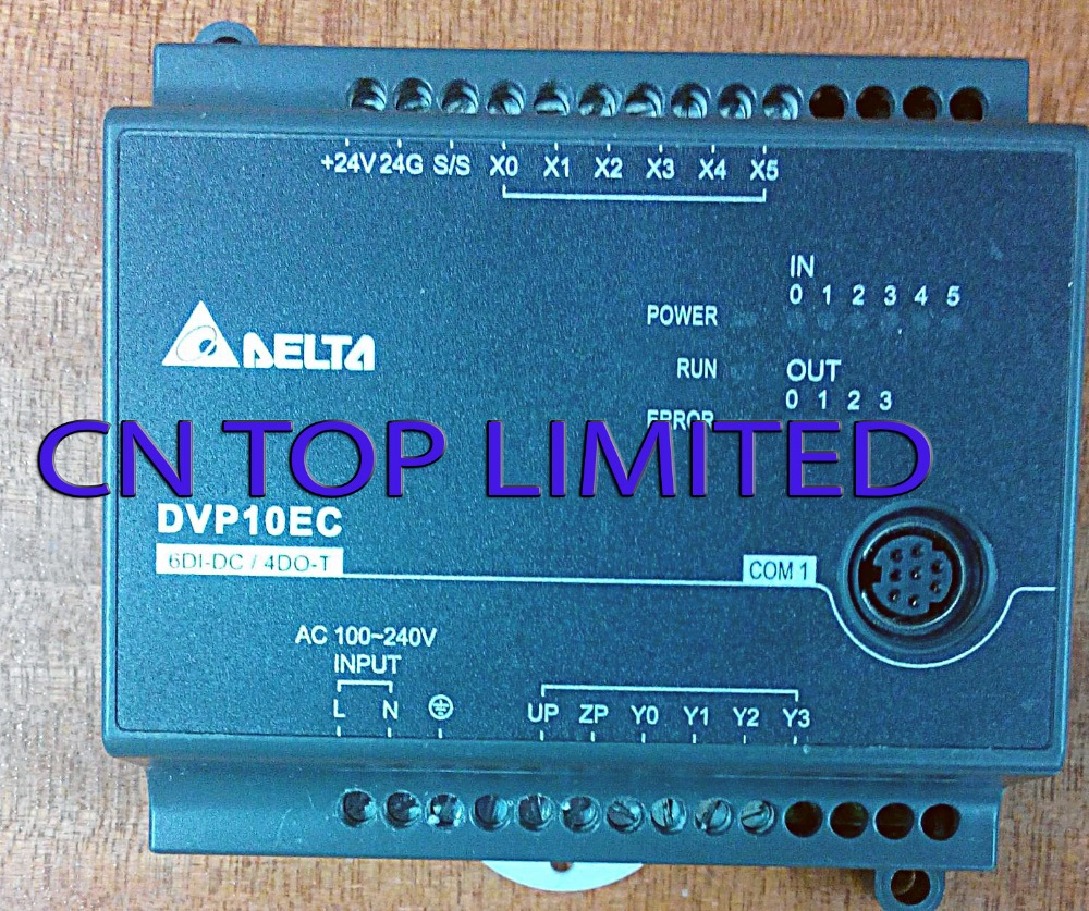 DVP10EC00T3 Delta EC3 Series Standard PLC DI 6 DO 4 Transistor 100-240VAC new in box dvp40ec00t3 delta plc ec3 series 100 240vac 24di 24do new original transistor output