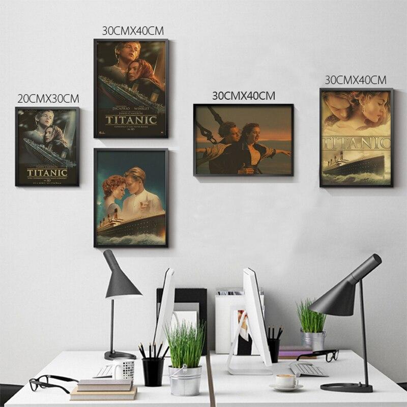 ヾ(^▽^)ノRetro Poster Home Decor Classic Movie Titanic Posters ...