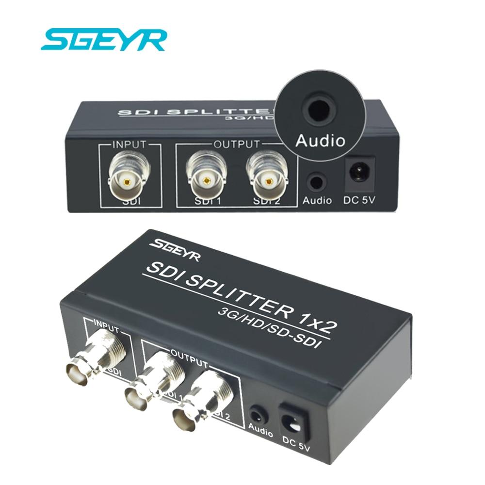 2 Port SDI Splitter with 3.5mm 1x2 3G SDI Distribution SDI Splitter 1 input 2 Output Support 1080p to 1080i HD SDI Converter sdi splitter 1x4 3g hd sdi repeater 4 port sdi splitter support 1080p 100m distribution extender free shipping