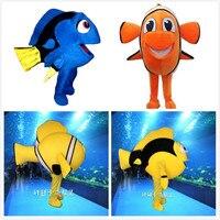 Взрослых размеры забавные костюм талисман рыбы Лидер продаж платье животного костюмы Немо и Дори маскоты костюмы косплэй