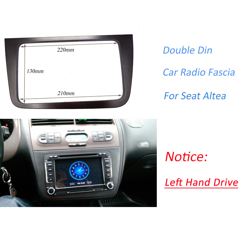 DOUBLE DIN Car Radio Fascia for SEAT Altea LHD Left Hand stereo face plate frame panel