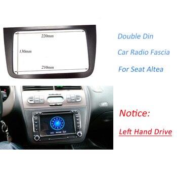 Podwójne DIN samochód konsola radiowa dla SEAT Altea (LHD) z lewej strony stereo twarzy płyta rama tablica rozdzielcza zestaw do montażu adapter wykończenia Bezel deski rozdzielczej