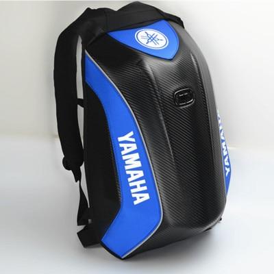 Carbon Fiber Motorcycle Backpack Racing Riding Hard Shell Bag Waterproof