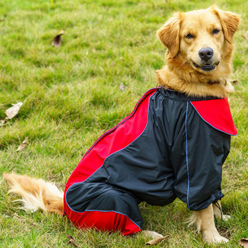 Pet Big Dog Raincoat Waterproof Clothes For Small Large Dogs Jumpsuit Breathable Rain Coat Labrador Golden Retriever Pug Cloak