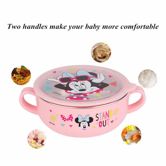 6 stuk Disney Kids Servies Sets Kind Bijgestaan Gerechten Kom Babyvoeding Mickey Minnie Melk Cup Eetstokjes Lepel Vork sets
