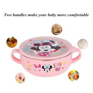 Image 4 - Детский набор посуды disney из 6 предметов, чаша для кормления детей, Микки, Минни, чашка для молока, палочки для еды, ложки и вилки