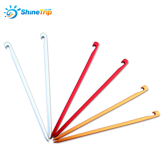 10pcs Square Tent Nails 16cm Aluminium Tent Pegs Stake Camping Equipment for Canopy Shelter Outdoor Beach