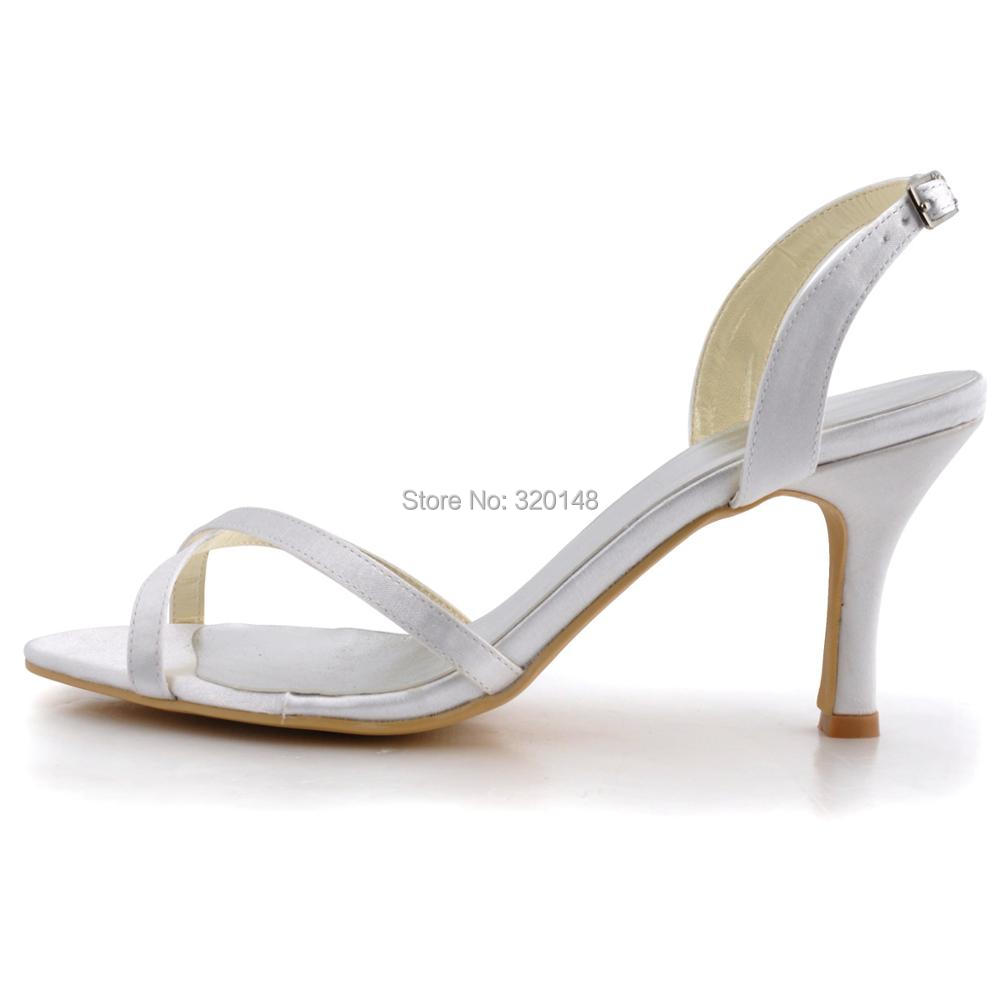 EP2195-WHITE-2 EP2195-WHITE-4 EP2195-WHITE-3. 1. Women Summer Sandals Ivory Wedding  Bridal Ankle Strap High Heel Bride Bridesmaid Sexy Evening Party Shoes ... 03d6985cb60d