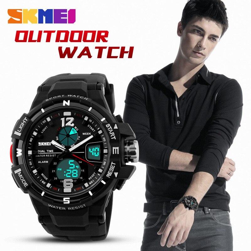 be51bdfc21c ... 2016 SKMEI G Style Fashion Digital-Watch Mens Sports Watches Army  Military Wristwatch Erkek Saat