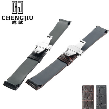 22mm Calf Skin Leather Watch Band With Buckle For CK Calvin Klein Watch Straps For Men Women Black Watchband Bracelet Belt Strap