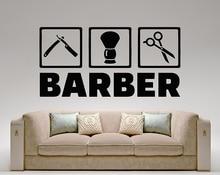 Фотография Barbershop Hairdresser Hair Salon Wall Art Decal Vinyl wall sticker Home Decor Removable Waterproof Decals