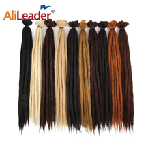 AliLeader 20 100% Handmade Dreadlocks Extensions Synthetic Crochet Dreads Braiding Hair Extension For Men And Women Black 1Root