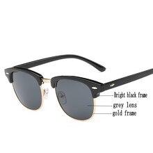 Fashion Sunglasses Men Women Classic Brand Designer Half Metal Femail Mirror Eyewear Male Sun Glasses UV400 Oculos De Sol стоимость
