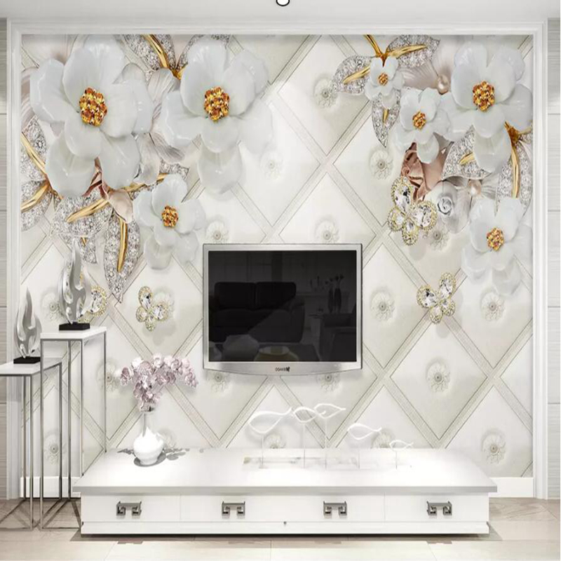Custom 3d Modern Wallpaper In Wallpapers 3d Wall Papers Home Emprovement Decorative Flower Wallpaper Golden Luxury Mural desktop custom any size modern wall wallpaper eiffel tower arches leaves luxury wall covering bedroom mural background wallpapers
