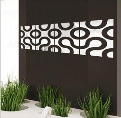 new 3d acrylic wall sticker diy mirror wall stickers home decor wall