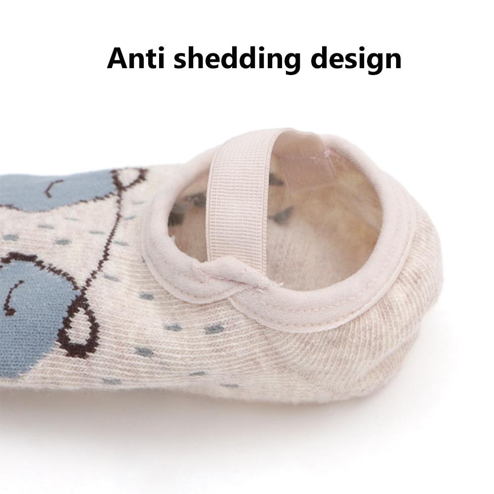 1 paire mode bébé filles garçons mignon dessin animé anti-dérapant coton bambin chaussettes de sol motif Animal premier marcheur chaussures pour nouveau-nés 3