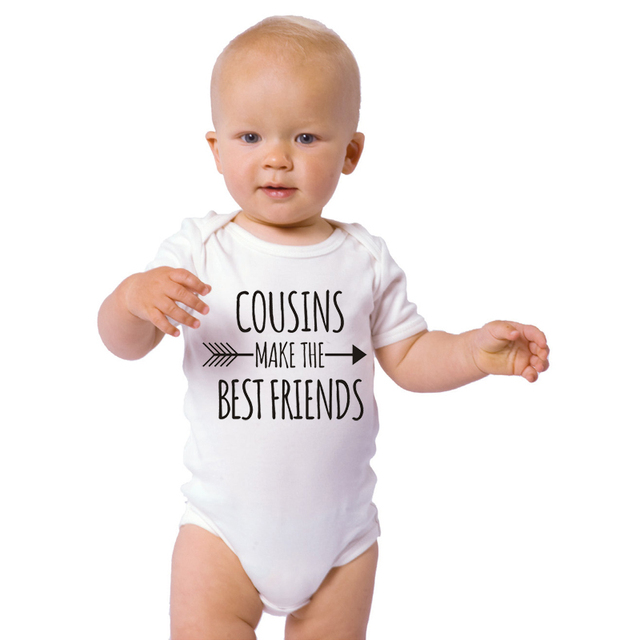 fc5d363ad26 HY0006 Comfortable COUSINS MAKE THE BEST FRIENDS Print Funny Baby Bodysuits Unisex  Baby Wear