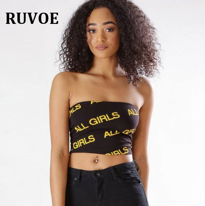 6a4701cb266 ... Printed Letter Ladies tank top black yellow Sexy Lntimates Solid Black  Tight Tube Top YFL-42. 34 35 ...