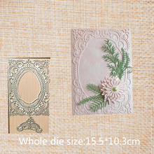 Rectangle hollow lace metal steel cut dies DIY Scrapbook Album Paper Card Cutting Dies Stencil for card Crafts 155*103 mm