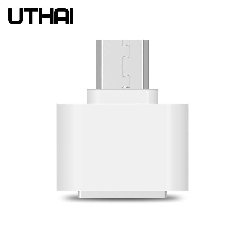 UTHAI C24 Micro USB To USB Adapter OTG Converter Turn Into Phone USB Flash Drive Mobile  Mini Adapters