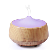 Wood Grain Aromatherapy Essential OIl Diffuser with Colorful LED Light Ultrasonic Cool Mist Air Humidifier for Home Mist Maker цена 2017
